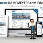 Immobilienservice im Netz: KAMPMEYER.com im neuen Design und Technik