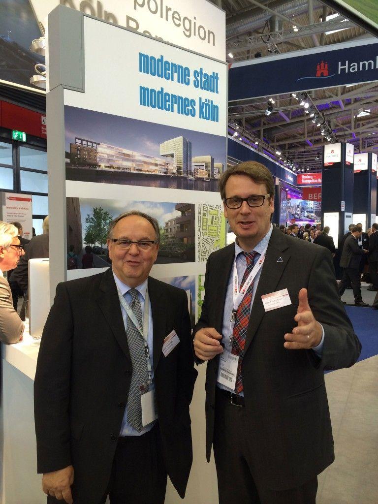 Bernd Streitberge mit Roland Kampmeyer auf der Expo Real 2013
