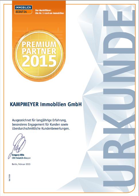 Urkunde Premium-Partner 2015