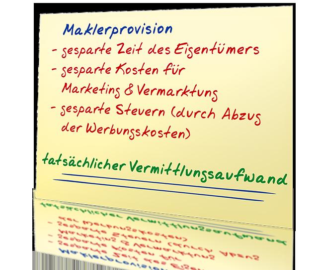 Beispielrechnung Maklerprovision