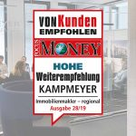 """Auszeichnung FOCUS-MONEY-Prädikat """"Hohe Weiterempfehlung"""""""