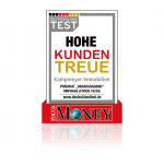 """FOCUS-MONEY Prädikat """"Herausragend"""" für """"Hohe Kundentreue"""""""