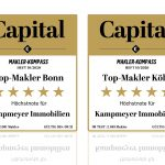 Top-Makler in Köln und Bonn: Höchstnote mit 5-Sternen für KAMPMEYER Immobilien
